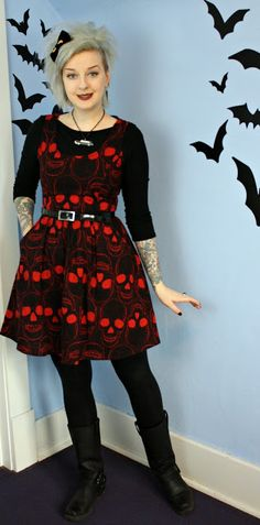 Coffin Kitsch: A Well Loved Repeat #folterclothing #skulldress #goth #blogger…