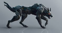 Black Wolf by Andrew Lim | Robotic/Cyborg | 3D | CGSociety