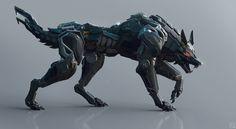 Black Wolf by Andrew Lim   Robotic/Cyborg   3D   CGSociety