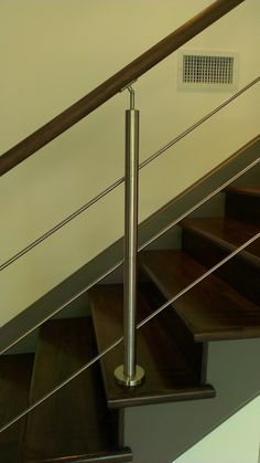 Stainless Steel Stair Parts Modern Stairs Glass Staircase Exterior Railing | eBay