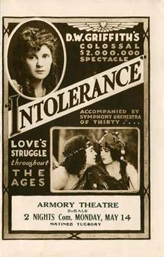 Theatrical poster for the 1916 silent film Intolerance.
