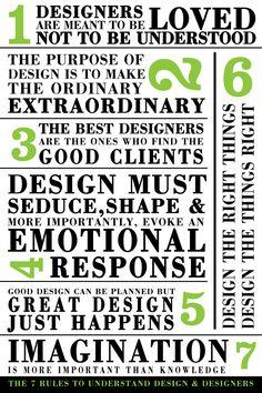 LAs 7 reglas para entender al diseñador y los diseñadores