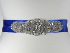 Hey, I found this really awesome Etsy listing at https://www.etsy.com/listing/217968504/royal-blue-wedding-belt-sapphire-blue