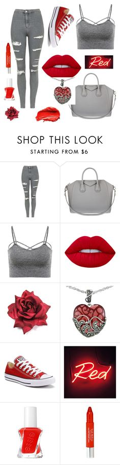 """Oh-La-la"" by the-pink-poppy on Polyvore featuring Topshop, Givenchy, Lime Crime, Lord & Taylor, Converse, Seletti, Urban Decay, Essie and Trish McEvoy"