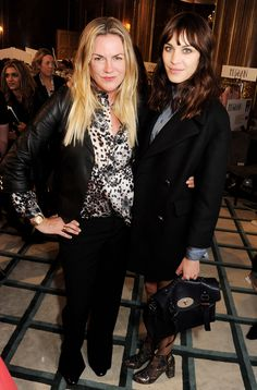 Emma Hill with Alexa Chung in Mulberry