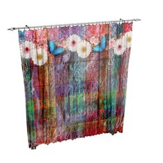Boho Chic Curtains Purple Hippie Design Entire product is made of a soft 100% polyester fabric .Our unique design will appear on the front side, back side is white. Each window curtain has a pole loop, approximately 2 wide at the top, has all edges hemmed for durability, and blocks approximately 50% of light. Available in two sizes Priced as a set. (two panels each 42 wide and your selected length) We can do custom sizes , message us for a quote. Sheers shown in the photo are not include...
