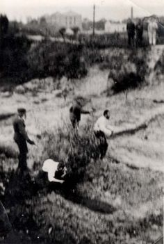 Two men being executed, this might have been the work of the einsatzgruppen
