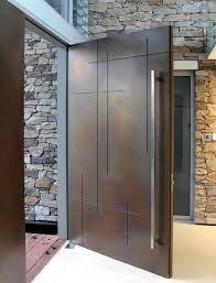 Image result for modern wood front doors