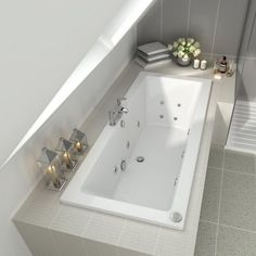 Whirlpool Bath Double Ended 14 Jets - 1700x750x545mm