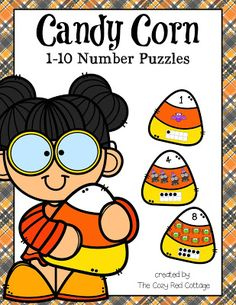Candy Corn Number Puzzles (1-10)
