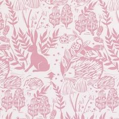 Hedgerow Pink Curtains