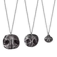 Mother in Law would love!  CUSTOM PET NOSE PRINT NECKLACES | dog nose, cat, silver | UncommonGoods