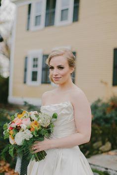 New England bride: http://www.stylemepretty.com/new-hampshire-weddings/2015/04/01/romantic-fall-wedding-at-the-bedford-village-inn/ | Photography: Emily Delamater - http://emilydelamater.com/