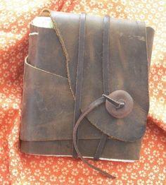 Handmade Brown Leather Journal  •