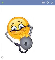 Doctor emoticon Copy Send Share Send in a message, share on a timeline or copy and paste in your comments. Emoji Characters, Funny Emoji, Funny Faces, Stethoscope, Gifs, Cupcakes, Craft Ideas, Facebook, Pictures