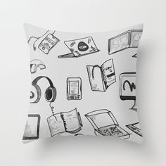 Geeky doodles Throw Pillow Doodles, My Arts, Throw Pillows, Shop, Toss Pillows, Decorative Pillows, Decor Pillows, Sketches, Donut Tower