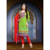 khushali-women-s-green-chanderi-semi-stitched-straight-suit