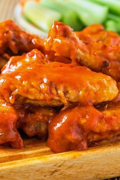 Recipe including course(s): Side; and ingredients: cayenne pepper, garlic powder, hot sauce, salt, unsalted butter, white vinegar, Worcestershire sauce