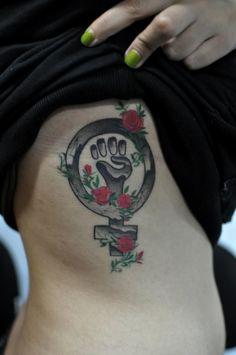 Done by Rafael Barba at Nagamoa Tattoo Time Tattoos, Tattoo You, New Tattoos, Tatoos, Venus Tattoo, Girl Power Tattoo, Feminist Tattoo, Cool Piercings, Sweet Tattoos