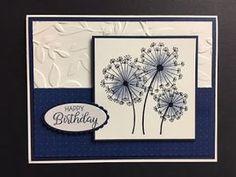 My Creative Corner!: Dandelion Wishes, Beautiful Bouquet, Birthday Card, Stampin. Masculine Birthday Cards, Birthday Wishes Cards, Birthday Cards For Women, Handmade Birthday Cards, Greeting Cards Handmade, Beautiful Birthday Cards, Female Birthday Cards, Birthday Images, Birthday Quotes