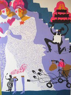 Artist: Sylvia Weve  Book: 'Aan de kant, ik ben je oma niet' poems by: Bette Westera repin from: Studio Sjoesjoe: July 2012