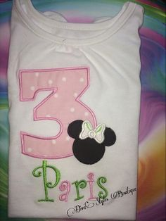 Mouse Head Birthday Shirt by DivaStylesBowtique on Etsy