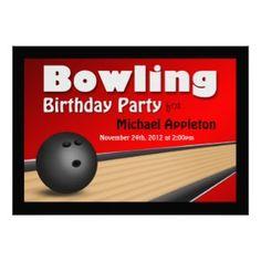 Bowling Party Einladungen Vorlage