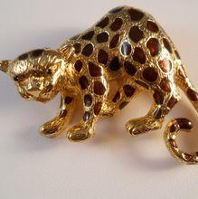 Jomaz Leopard Brooch Pendant Figural