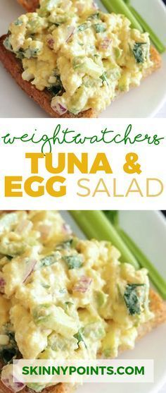 TUNA AND EGG SALAD WITH ONLY 2 WEIGHT WATCHERS SMART POINTS