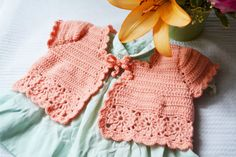 Crochet Baby Shrug Baby Vest Baby Sweater by lukesmom6 on Etsy No pattern