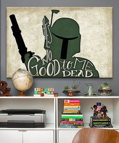 Another great find on #zulily! Boba Fett Gallery Wrapped Canvas by Star Wars #zulilyfinds