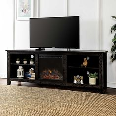 Wood Fireplace, Fireplace Inserts, Living Room Storage, Storage Spaces, 70 Inch Tv Stand, 70 Inch Tvs, Tabletop Tv Stand, Electric Fireplace Tv Stand, Tv Stand Console