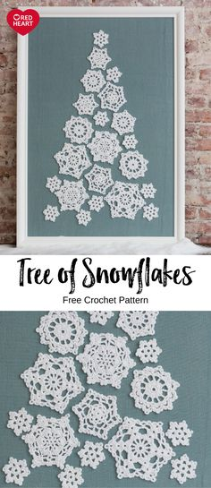 Tree of Snowflakes free crochet pattern in Aunt Lydias Crochet Thread. Tree of Snowflakes free crochet pattern in Aunt Lydias Crochet Thread. Precious doilies come togeth Crochet Christmas Decorations, Christmas Crochet Patterns, Holiday Crochet, Crochet Snowflakes, Christmas Crafts, Christmas Snowflakes, Thread Crochet, Crochet Crafts, Crochet Projects