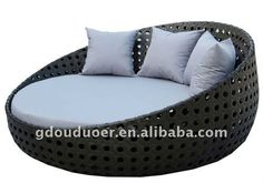 ODR outdoor rattan furniture round bed B916