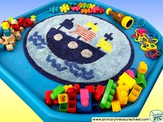 Pirates - Pirate Ship Themed Construction Multi-sensory Tuff Tray Ideas and Activities