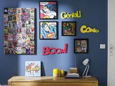28 decorating ideas for a children's room on the theme of superheroes Page 2 of 4 Boys Room Decor, Boy Room, Kids Bedroom, Bedroom Decor, Superhero Room Decor, Childrens Wall Murals, Marvel Room, Marvel Marvel, Star Wars Room