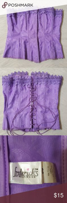 Lavender Frederick's of Hollywood Corset Lavender Frederick's of Hollywood Corset Size 36 Frederick's of Hollywood Intimates & Sleepwear