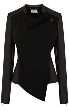 Faux leather jacket | Luxury Women's outerwear | Karen Millen