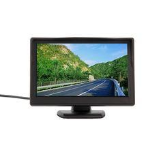 Hd 800*480車のtft液晶モニター5インチ車のモニター電子スクリーン2chビデオで車のバックミラーカメラ機器ナイトビジョン