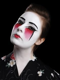 Trendy ideas for fashion editorial hair alex oloughlin Geisha Make-up, Geisha Hair, Editorial Hair, Editorial Fashion, Drag King Makeup, Fantasy Make Up, Scary Costumes, Halloween Costumes, Horror