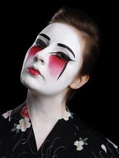 Geisha Makeup Idea Makeup idea for Geisha costume. Model: Nicole ...