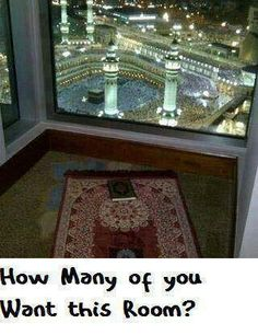 Masha'Allah...I really really really want that room. How amazing Subhan'Allah! Even for a night would be a blessing!!!!!!