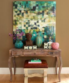Intimidated by color? A bold piece of art is a great way to experiment without the commitment of paint. #decor pic.twitter.com/RoGFIC6UJi