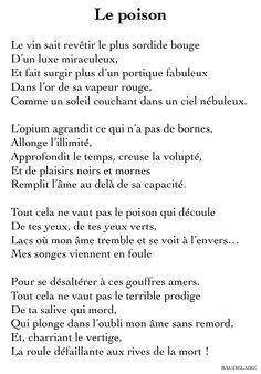 Poème de Charles Baudelaire (1821 - 1867)