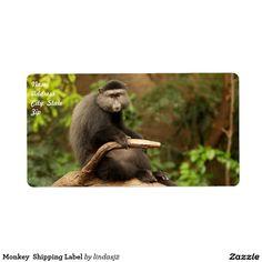 Monkey  Shipping Label
