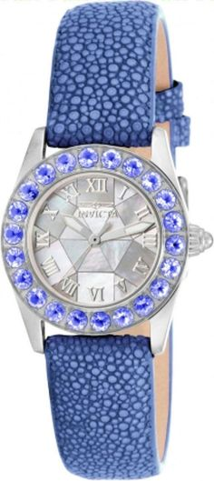 Invicta 17874 Angel MOP Dial Tanzanite Bezel Blue Stingray Strap Womens Watch | Jewelry & Watches, Watches, Parts & Accessories, Wristwatches | eBay!