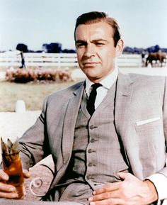 Sean Connery as James Bond in Goldfinger 1964 at the Derby