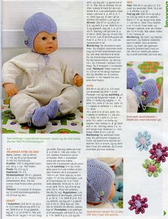 Bilde: Knitted Doll Patterns, Doll Sewing Patterns, Knitted Dolls, Doll Clothes Patterns, Crochet Dolls, Knitting Dolls Clothes, Baby Doll Clothes, Barbie Clothes, Girl Dolls