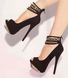 #Sexy #chain Platform #Pump . #shoes #heels #fashion