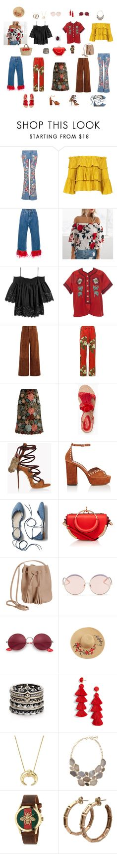 """BOHO"" by akmaral-mail on Polyvore featuring мода, Alice + Olivia, Sans Souci, Dolce&Gabbana, Gucci, Joseph, RED Valentino, Kate Spade, Dsquared2 и Tabitha Simmons"